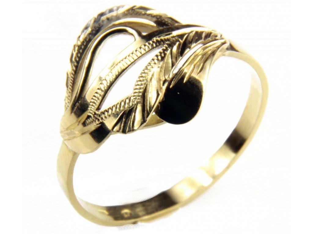 Prsten ze žlutého zlata G432