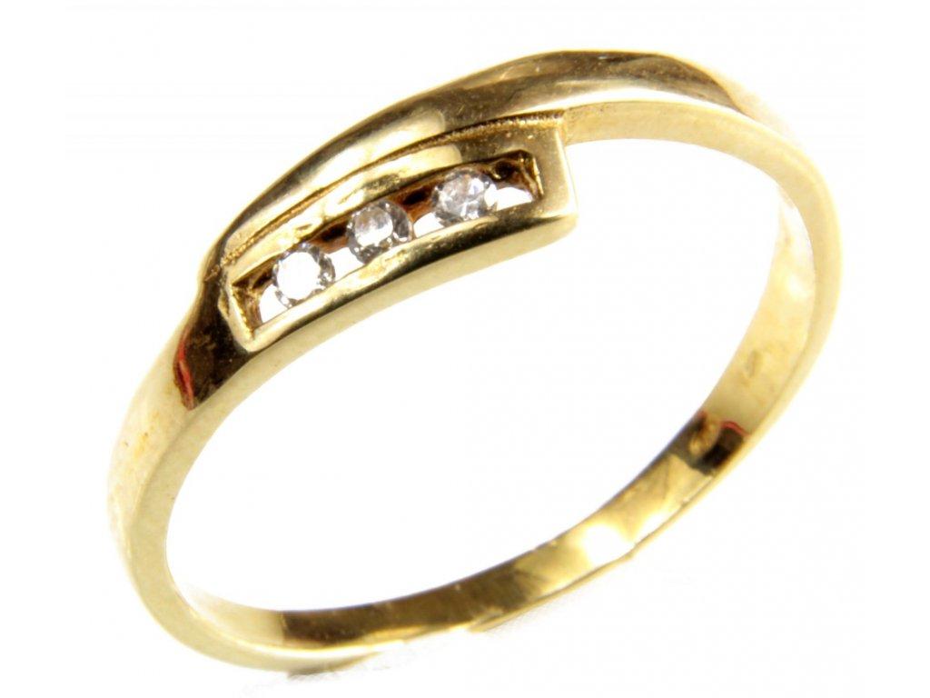 Prsten ze žlutého zlata G430
