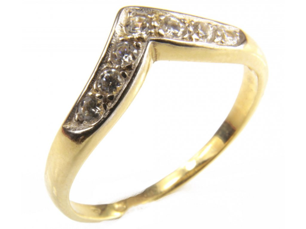 Prsten ze žlutého zlata G403
