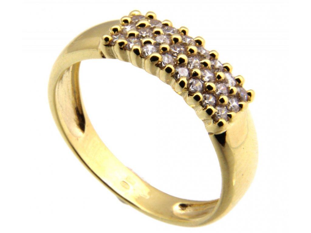 Prsten ze žlutého zlata G100