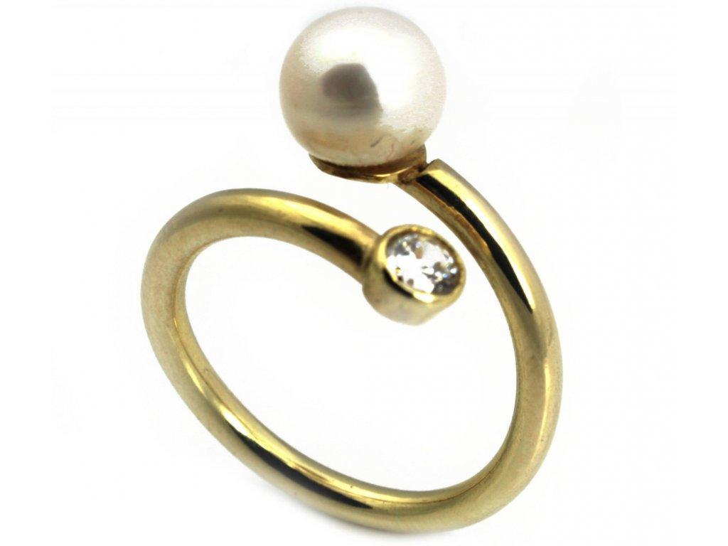 Prsten ze žlutého zlata  G158