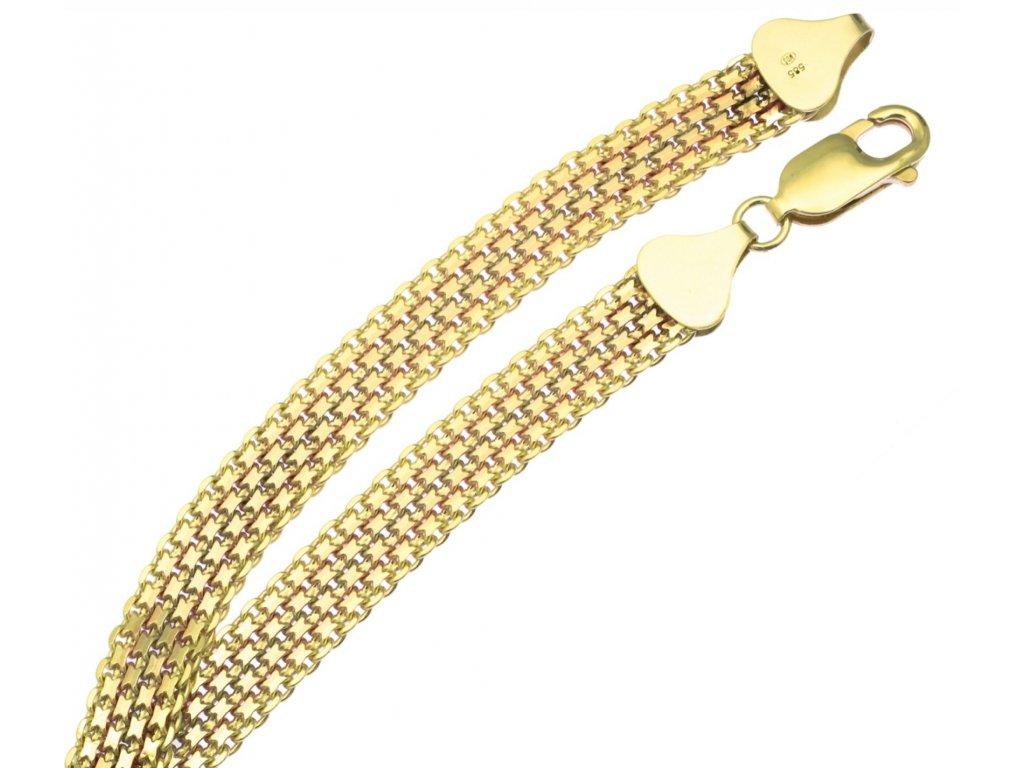 Zlatý náramek D391