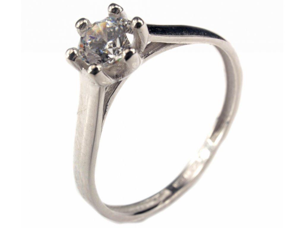 Prsten z bílého zlata G191