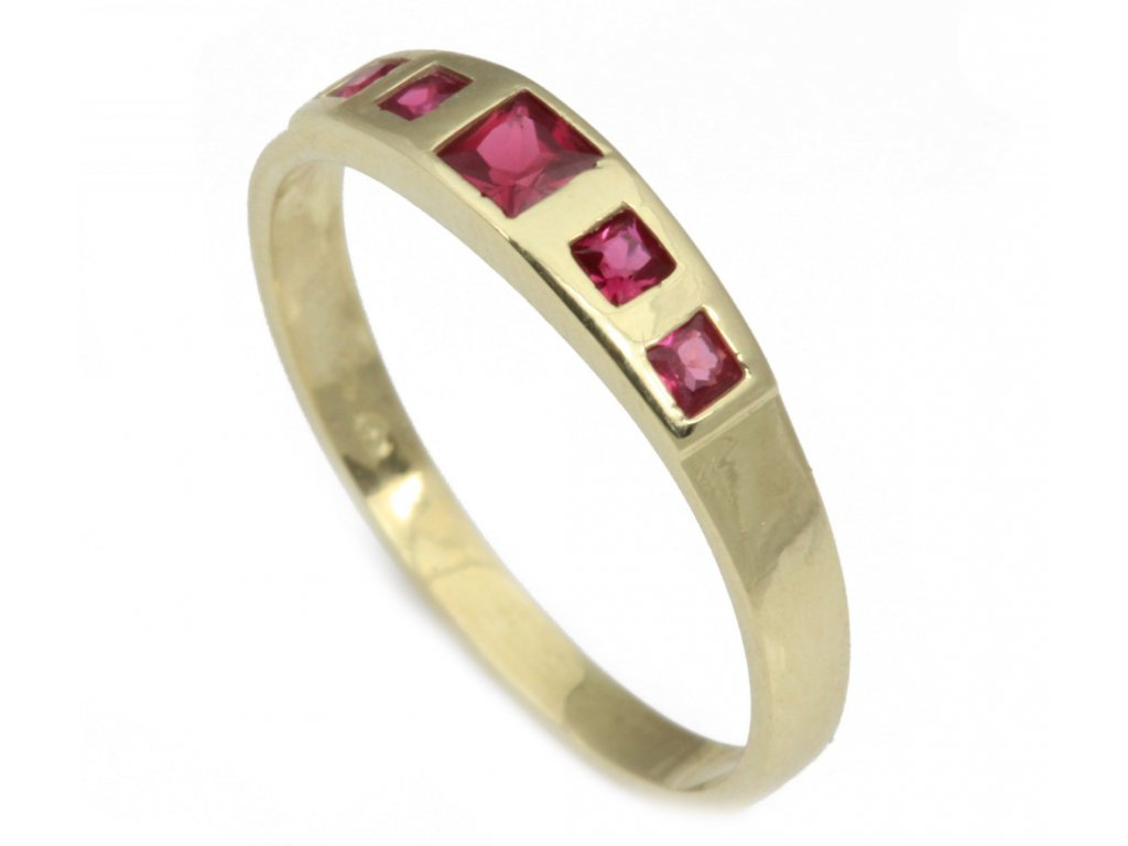 Prsten ze žlutého zlata G266