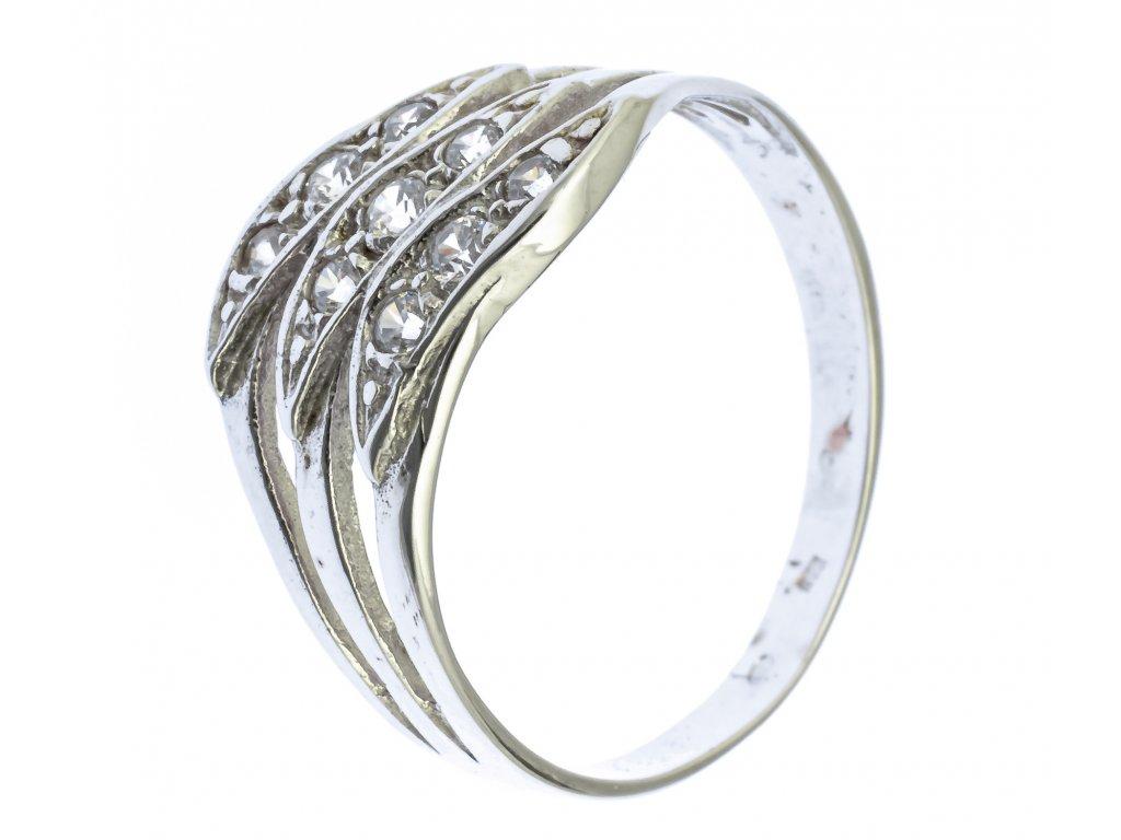 Prsten z bílého zlata G682