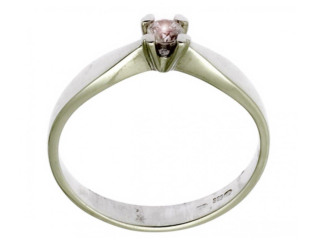 Prsten z bílého zlata G320