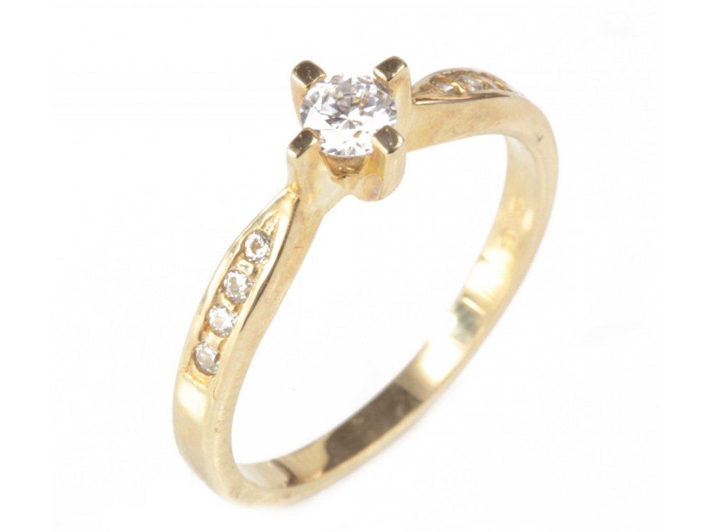 Prsten ze žlutého zlata G271