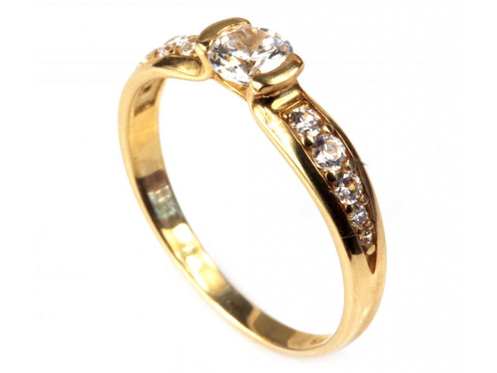 Prsten ze žlutého zlata G284