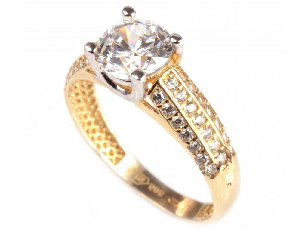 Prsten ze žlutého zlata G280