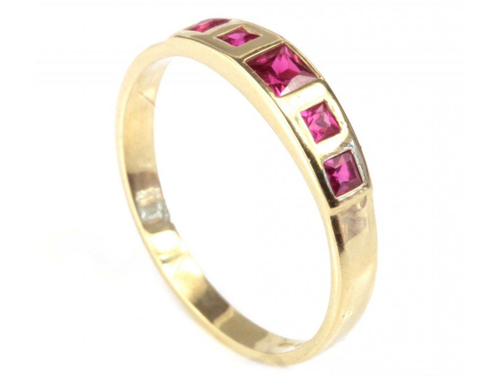 Prsten ze žlutého zlata G302
