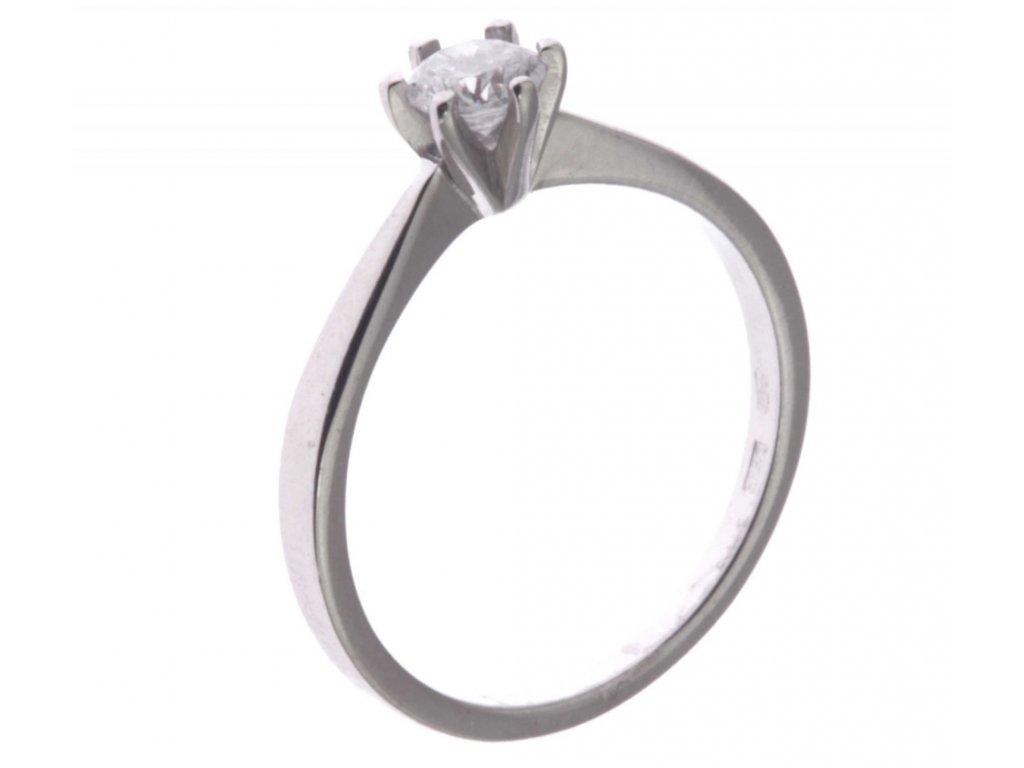 Prsten z bílého zlata se zirkon G333