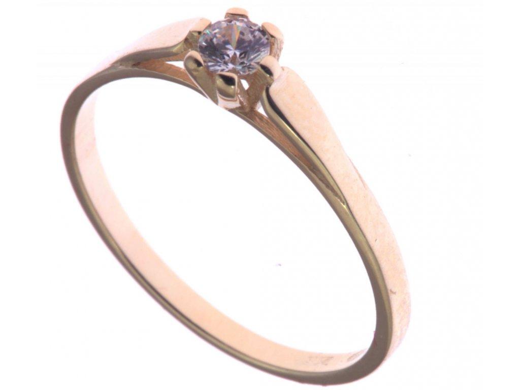 Prsten ze žlutého zlata G323