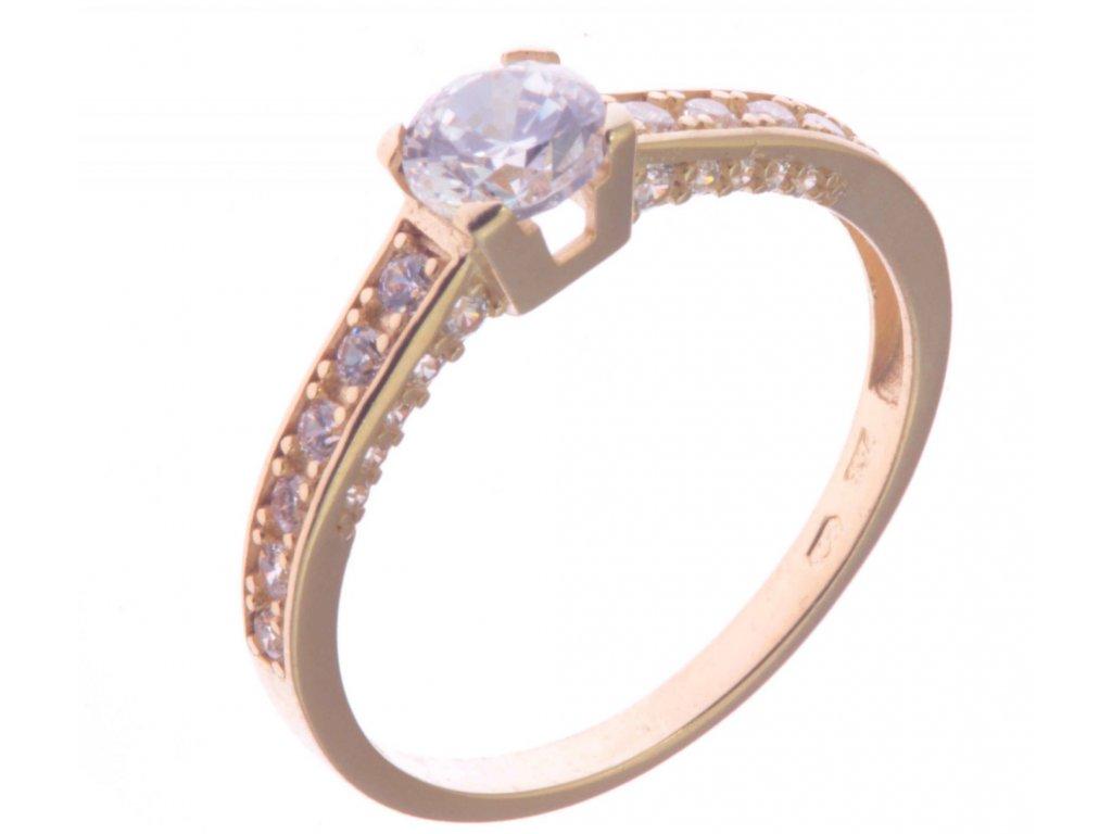 Prsten ze žlutého zlata G332