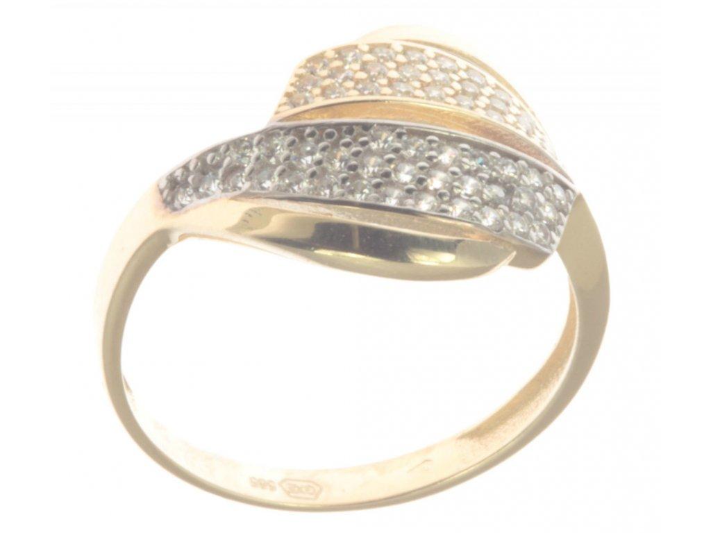 Prsten ze žlutého zlata G345