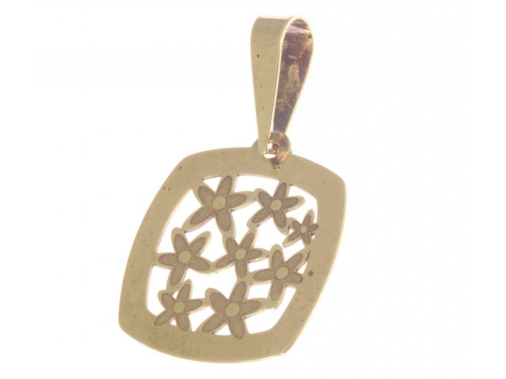 Přívěsek ze žlutého zlata H347