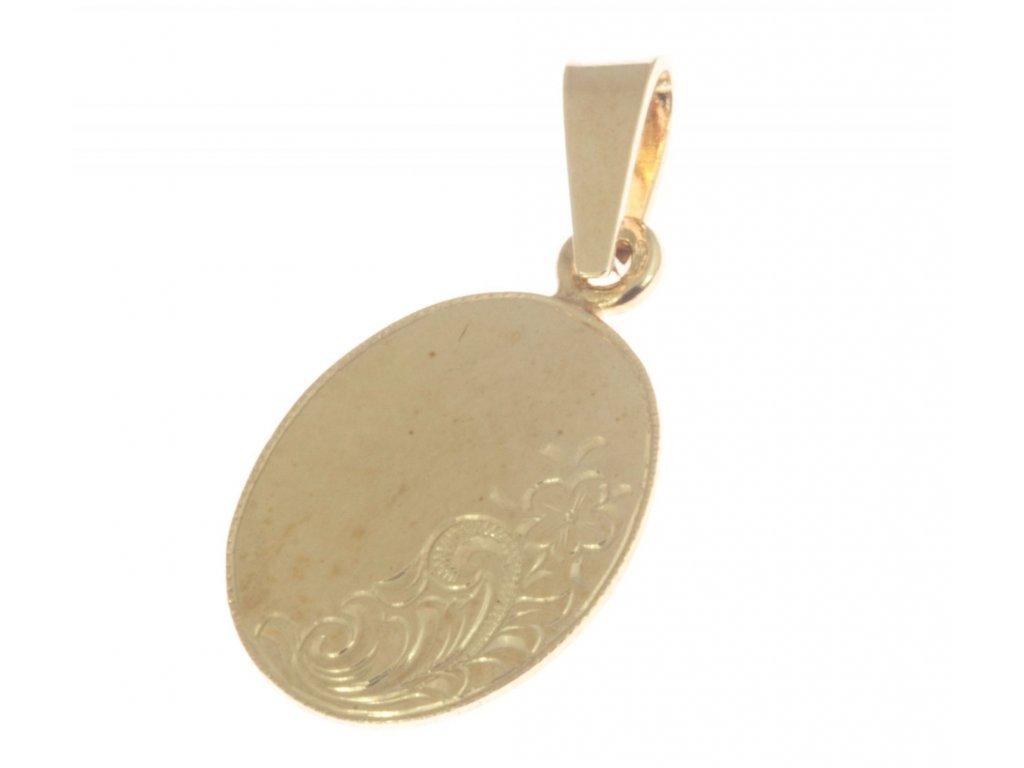 Přívěsek ze žlutého zlata H348