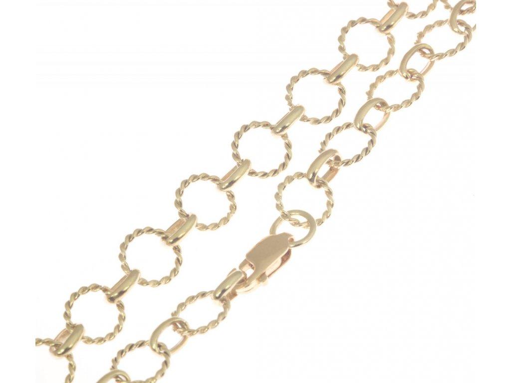 Zlatý náramek D083