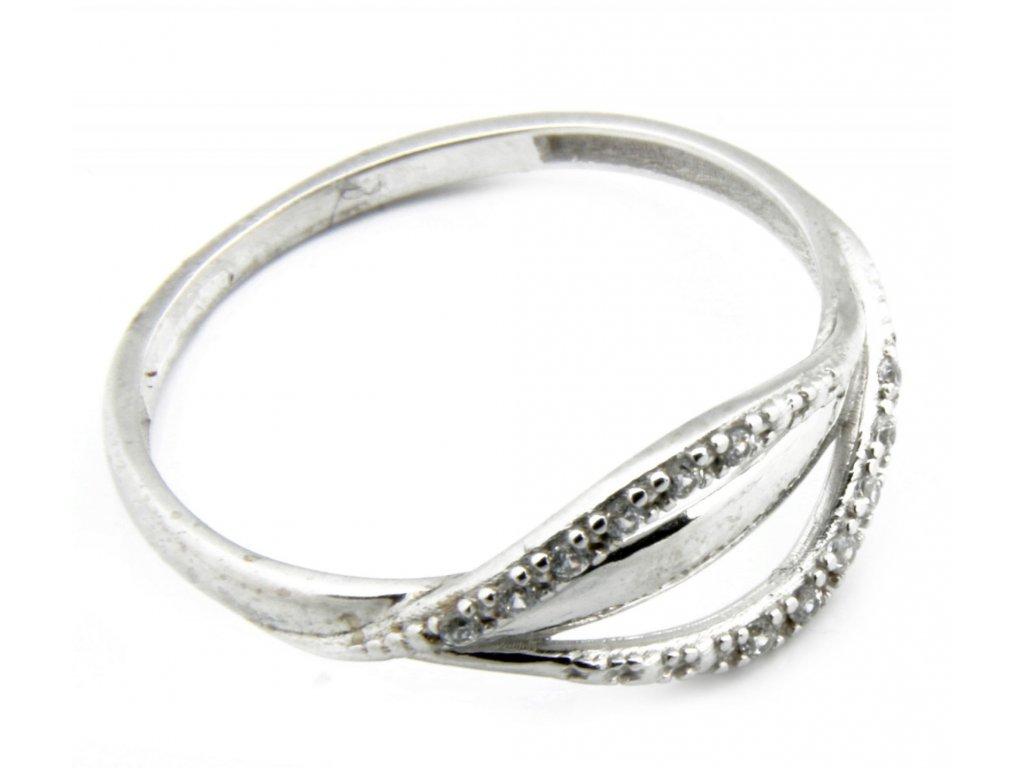 Prsten z bílého zlata  G034