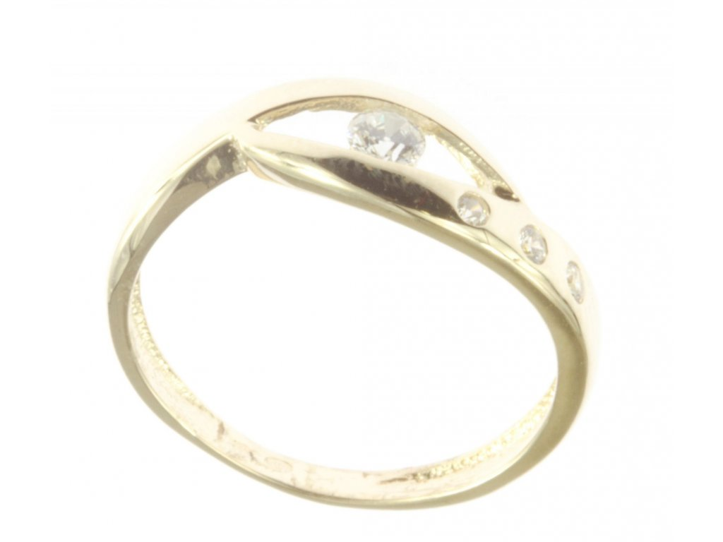 Prsten ze žlutého zlata G771