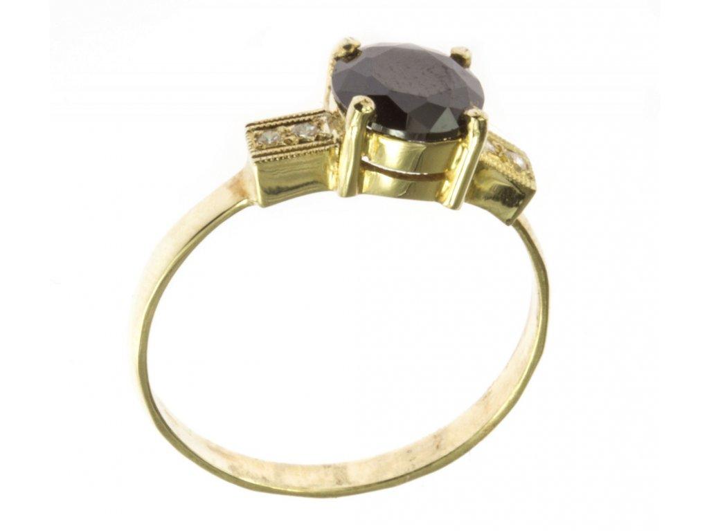 Prsten ze žlutého zlata G499