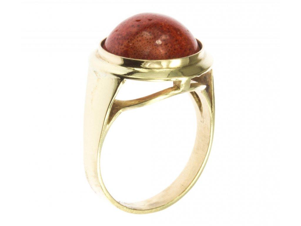 Prsten ze žlutého zlata G489