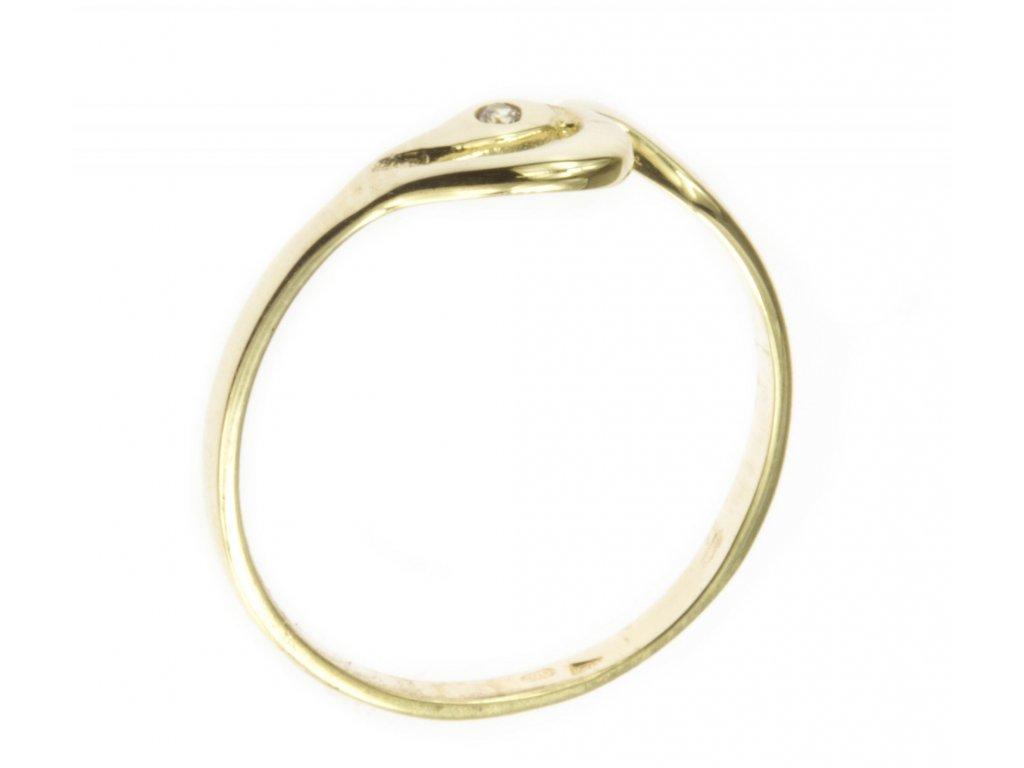 Prsten ze žlutého zlata G496