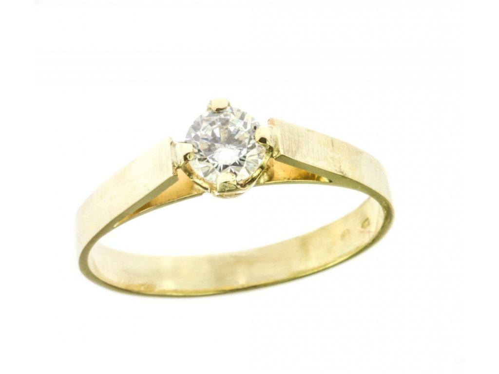 Prsten ze žlutého zlata G549