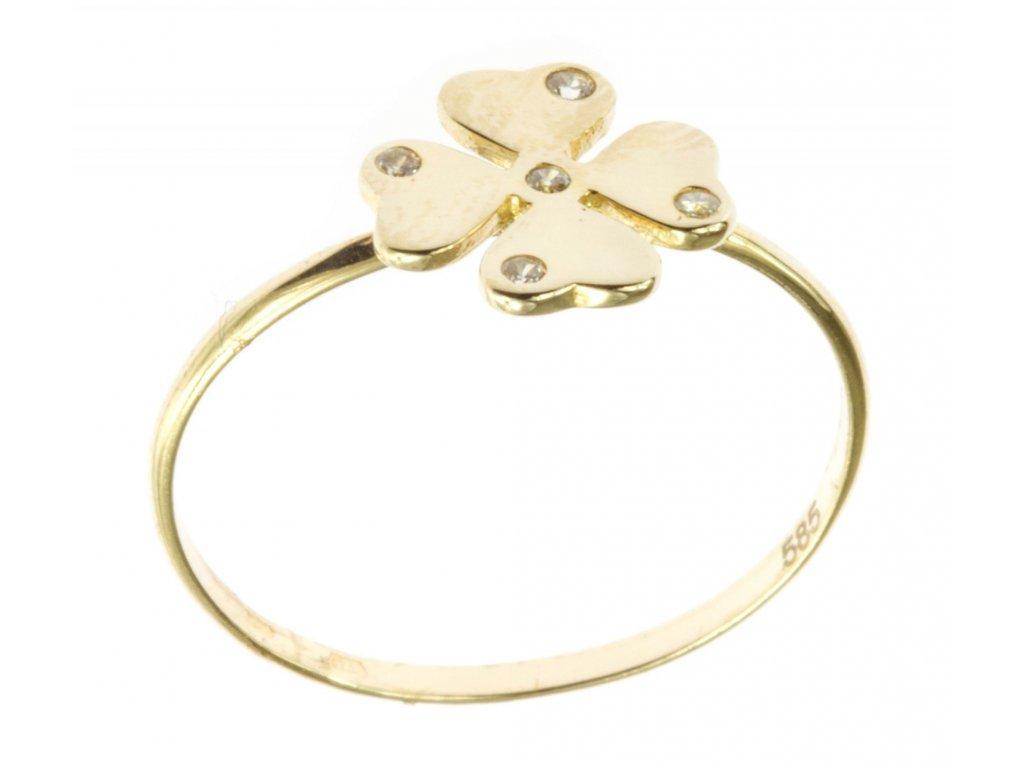 Prsten ze žlutého zlata G491