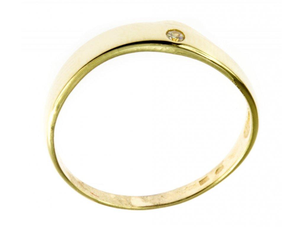Prsten ze žlutého zlata G482
