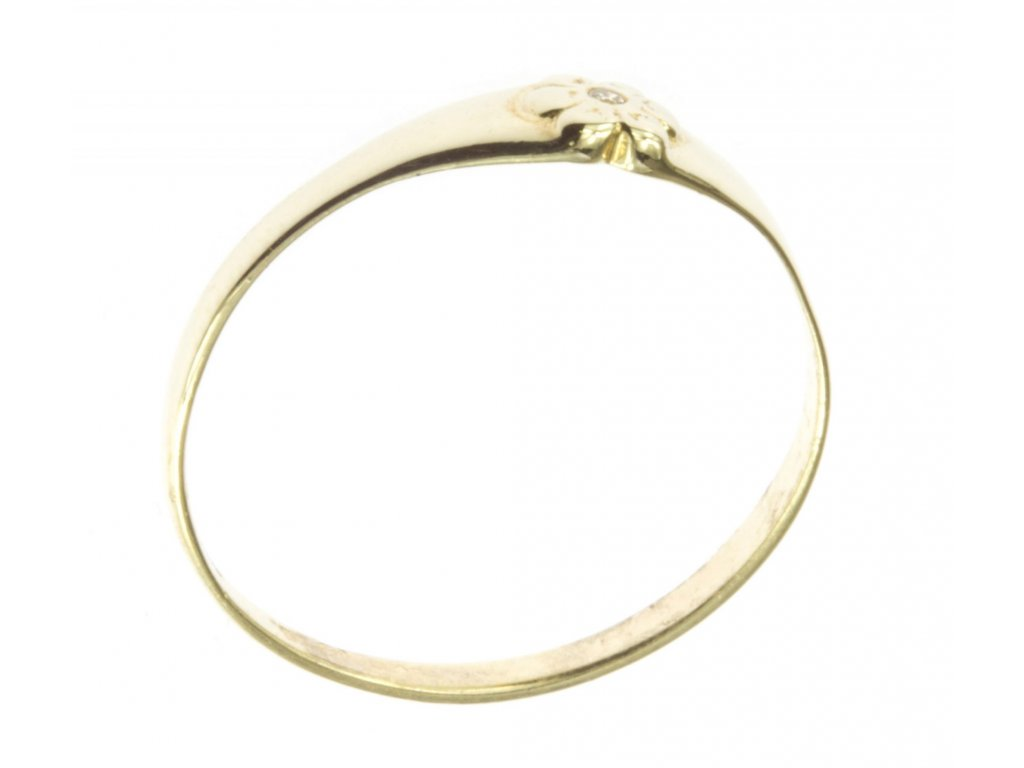 Prsten ze žlutého zlata G480