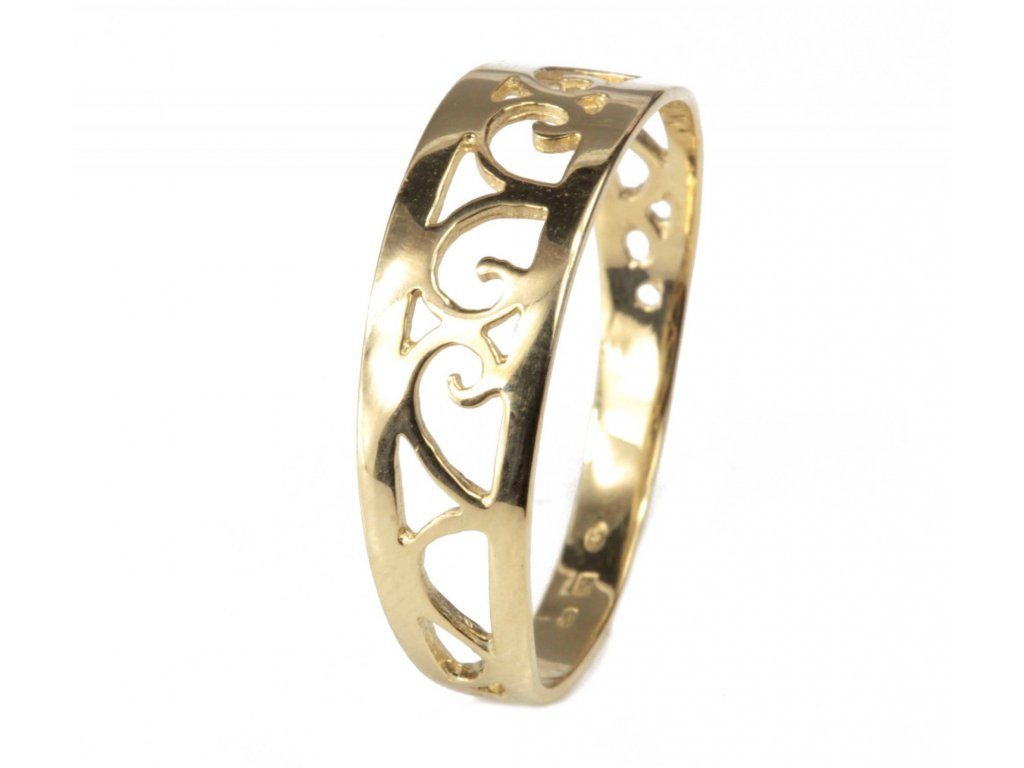 Prsten ze žlutého zlata G497