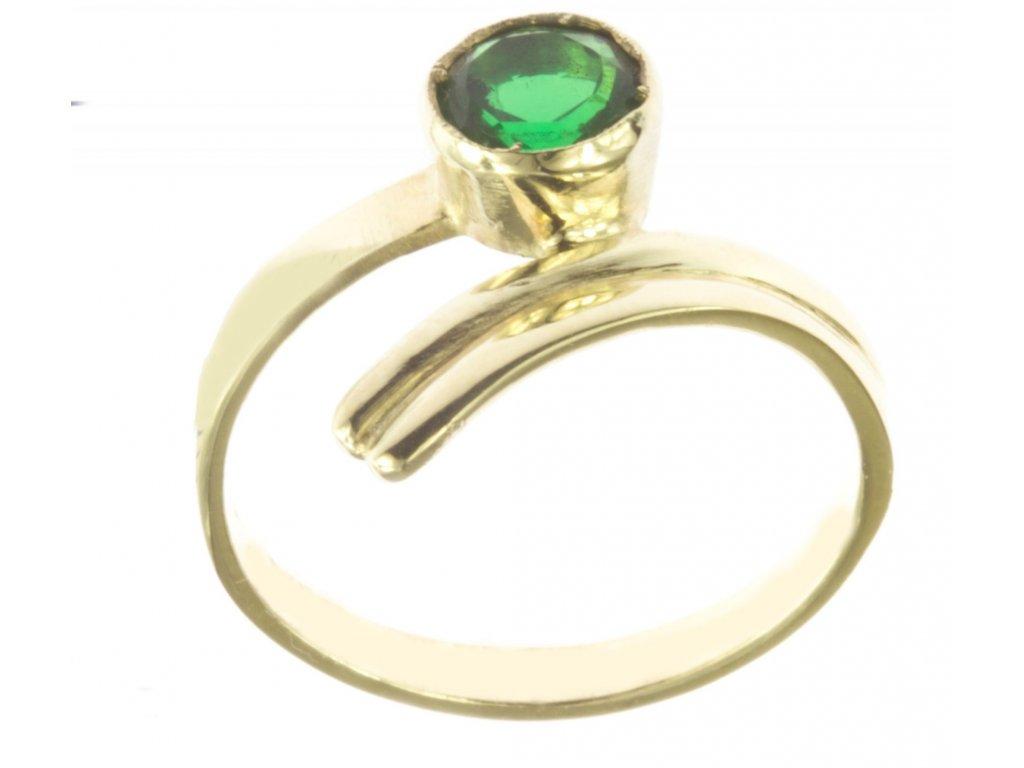 Prsten ze žlutého zlata G519