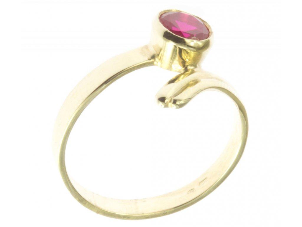 Prsten ze žlutého zlata G518