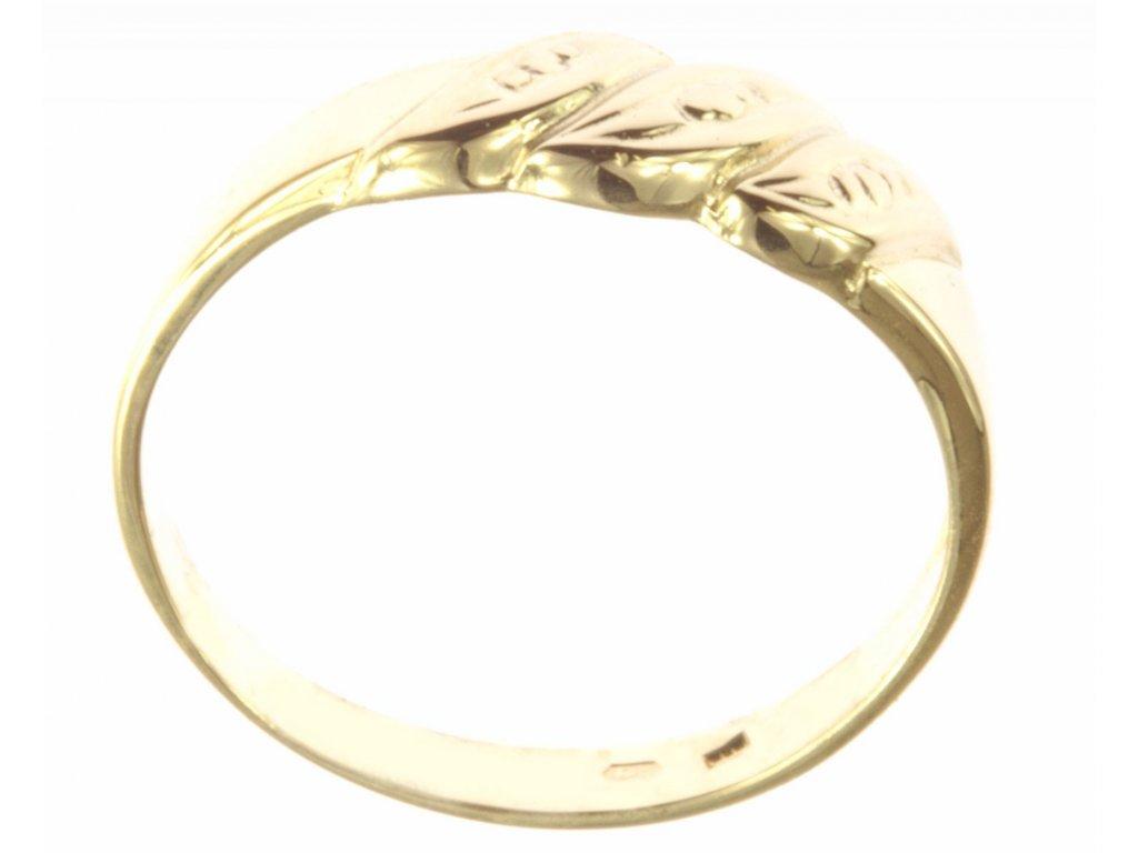 Prsten ze žlutého zlata G547