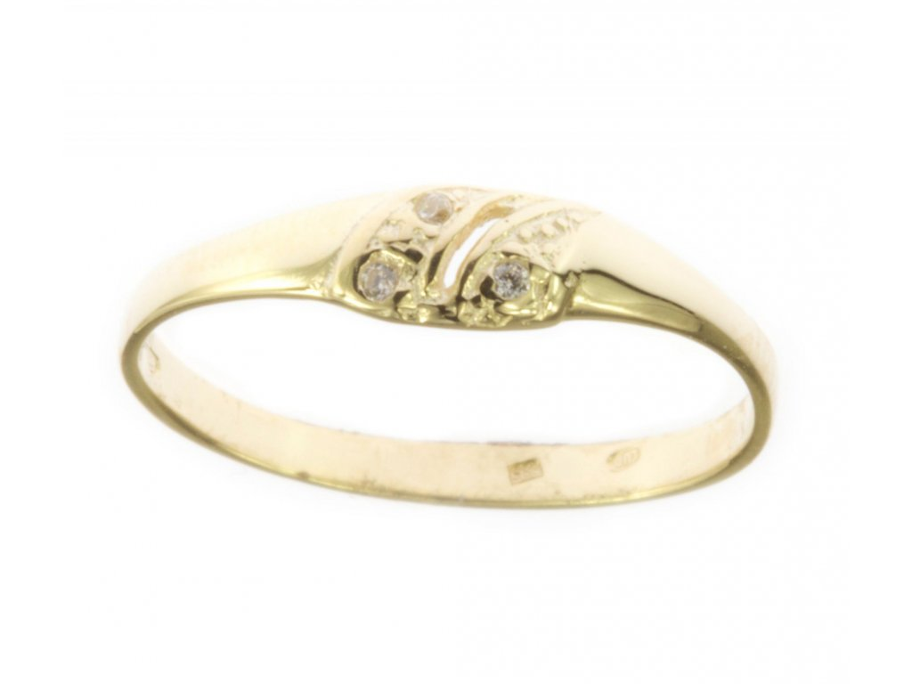 Prsten ze žlutého zlata G541