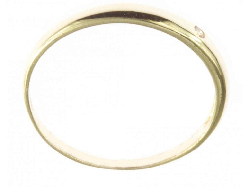 Prsten ze žlutého zlata G470