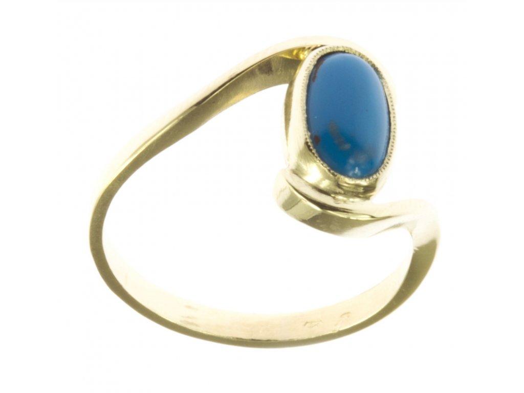 Prsten ze žlutého zlata G560