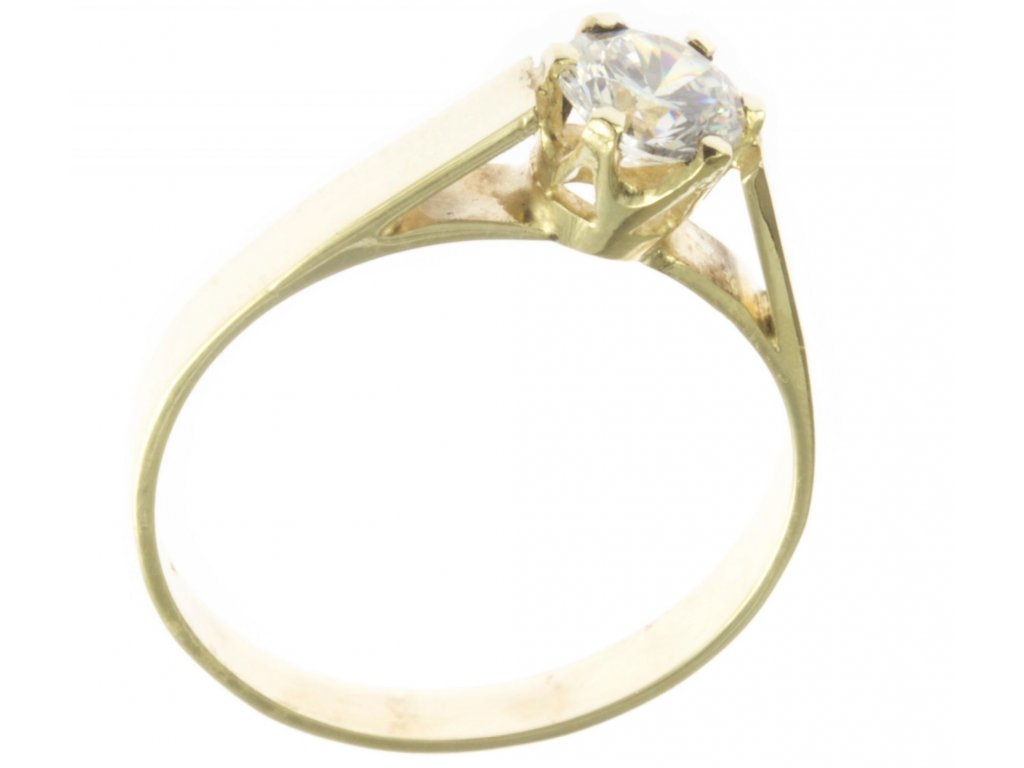 Prsten ze žlutého zlata G548