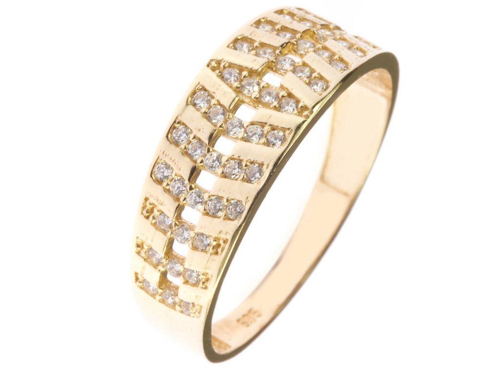 Prsten ze žlutého zlata G565