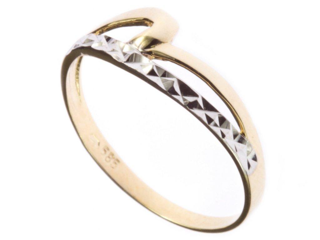 Prsten ze žlutého zlata G570