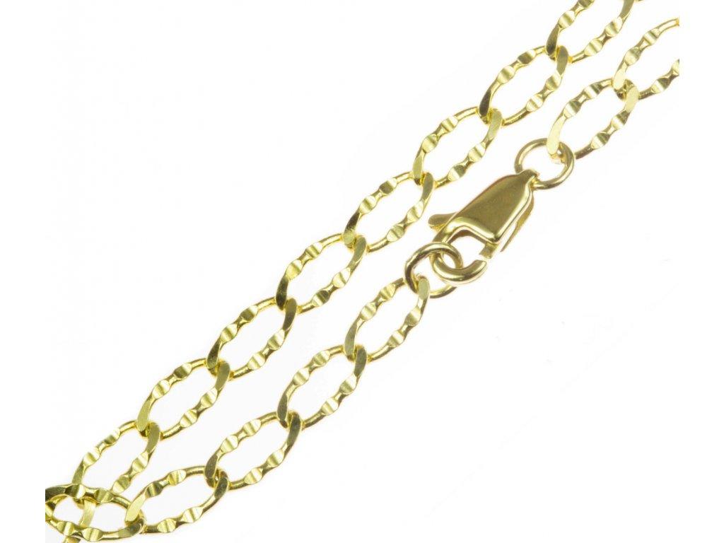 Zlatý náramek pancer ozdobný D272