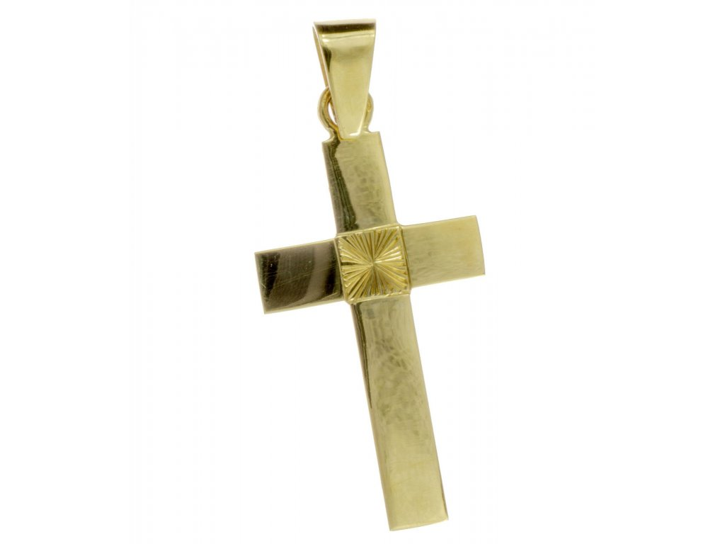 Přívěsek ze žlutého zlata H649