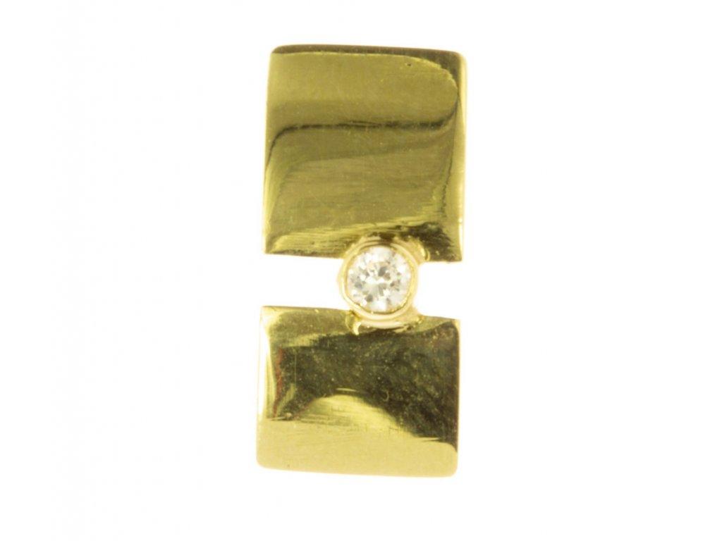 Přívěsek ze žlutého zlata H628