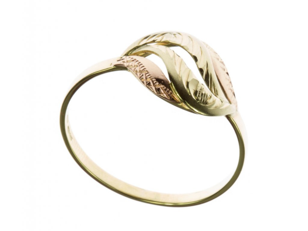 Prsten ze žlutého zlata G591