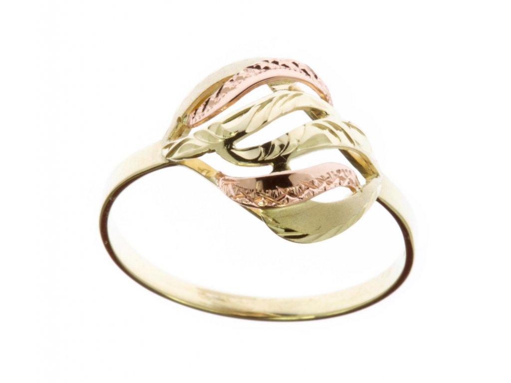 Prsten ze žlutého zlata G590