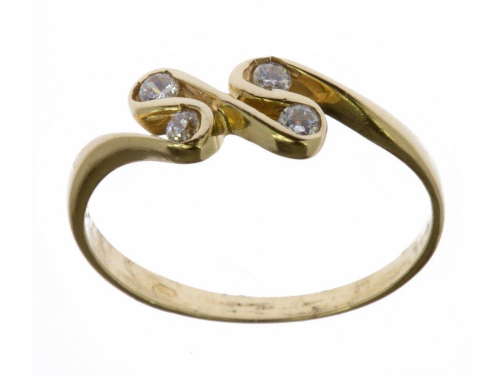 Prsten ze žlutého zlata G615