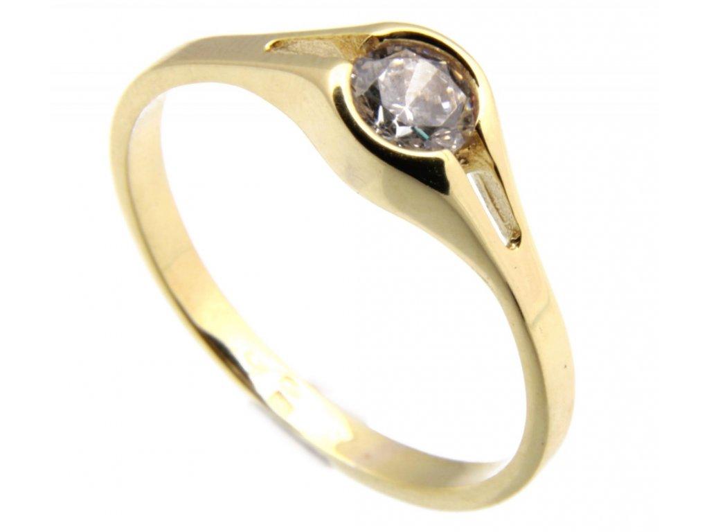 Prsten ze žlutého zlata G630