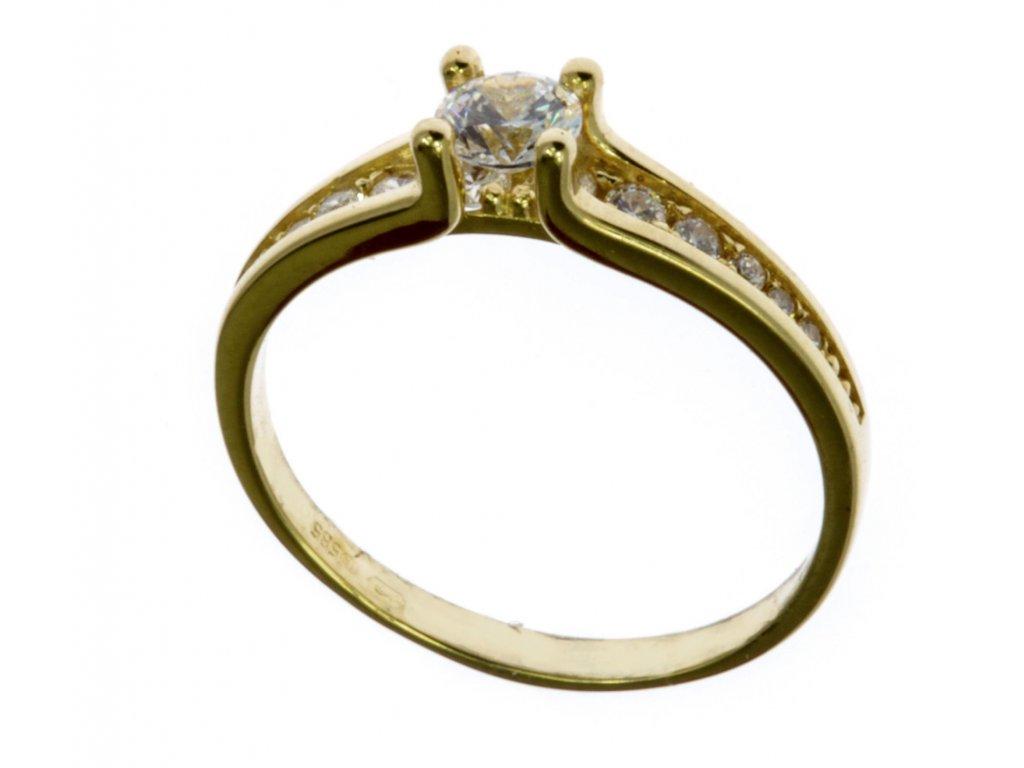 Prsten ze žlutého zlata G599