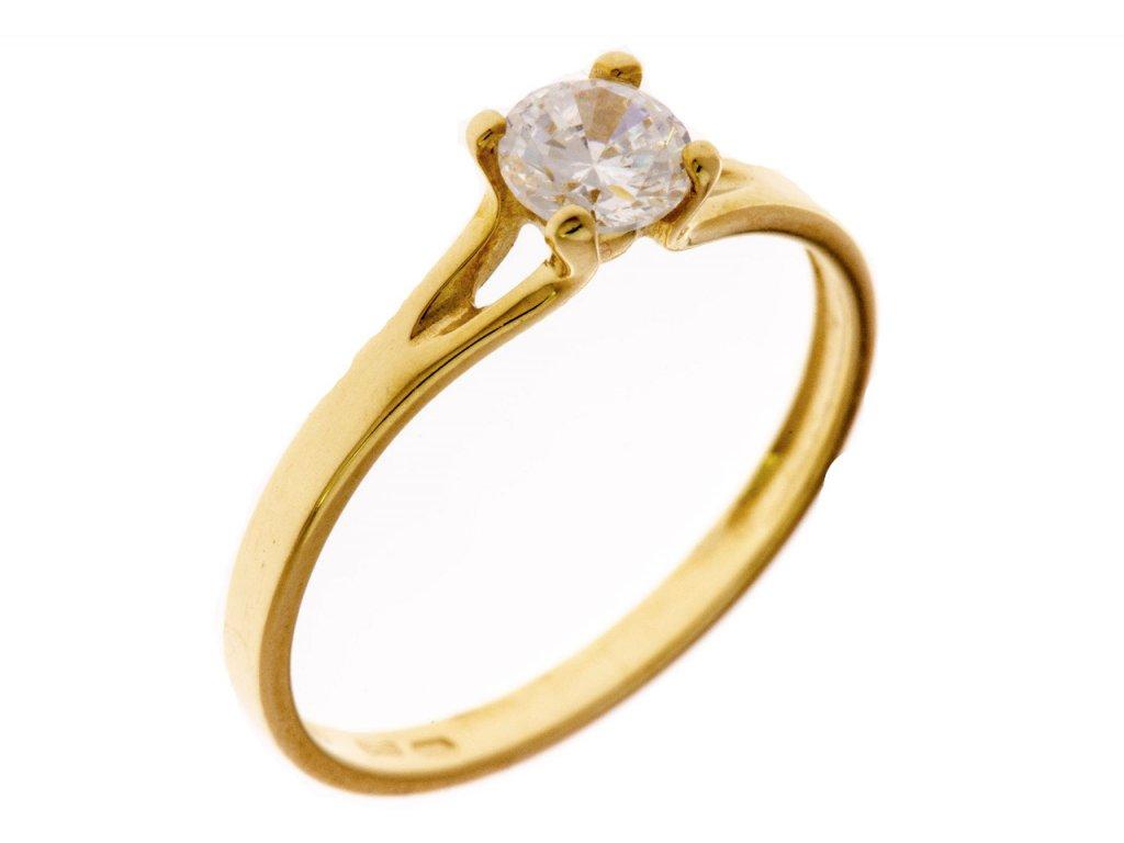 Prsten ze žlutého zlata G650