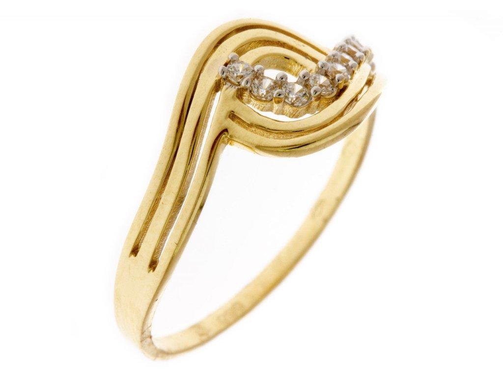 Prsten ze žlutého zlata G666